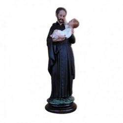 Statua San Gaetano in resina cm 25