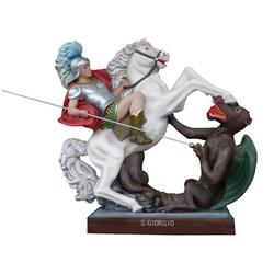 Statua San Giorgio a cavallo in vetroresina cm 110