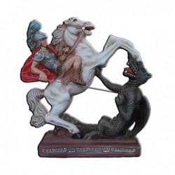 Statua San Giorgio a cavallo in resina cm 30