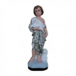 Statua San Giovanni Battista bambino in resina cm 30
