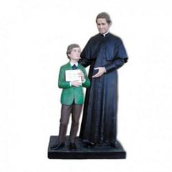 Statua San Giovanni Bosco cm 170 con San Domenico cm 130 in vetroresina