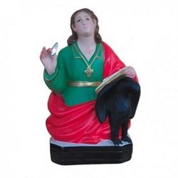 Statua San Giovanni Evangelista mezzo busto in resina cm 30