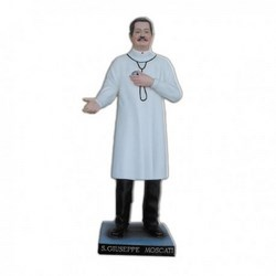 Statua San Giuseppe Moscati in vetroresina cm 130