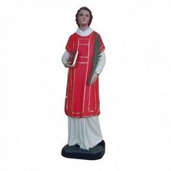 Statua San Lorenzo in resina cm 45