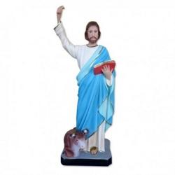 Statua San Luca Evangelista in resina cm 44