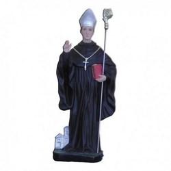 Statua San Mauro Abate in resina cm 40