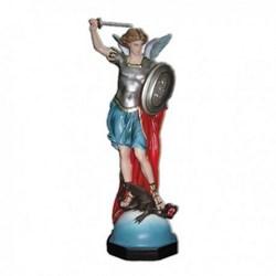 Statua San Michele Arcangelo con spada e scudo in vetroresina cm 80