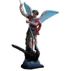Statua San Michele Arcangelo con lancia in vetroresina cm 110