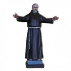 Statua San Pio da Pietrelcina a braccia aperte in vetroresina cm 115