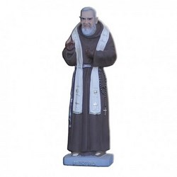 Statua San Pio da Pietrelcina con stola in resina cm 26