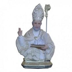 Statua San Riccardo mezzo busto in resina cm 30