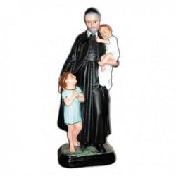 Statua San Vincenzo De Paoli in resina cm 30
