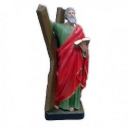 Statua Sant'Andrea in resina cm 44