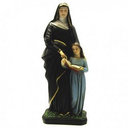 Statua Sant'Anna in resina cm 30