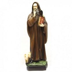 Statua Sant'Antonio Abate in resina cm 30