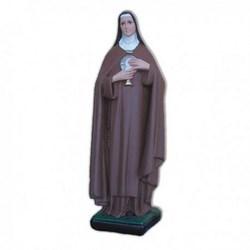 Statua Santa Chiara in resina cm 40