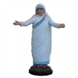 Statua Santa Madre Teresa di Calcutta a braccia aperte in resina cm 25