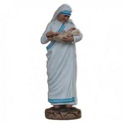 Statua Santa Madre Teresa di Calcutta con bimbo in vetroresina cm 60