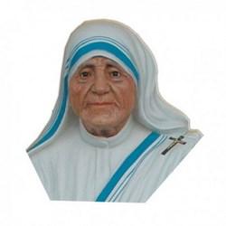 Statua Santa Madre Teresa di Calcutta mezzo busto in resina cm 35