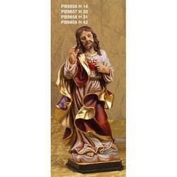Statua Sacro Cuore di Gesu cm 14 in resina