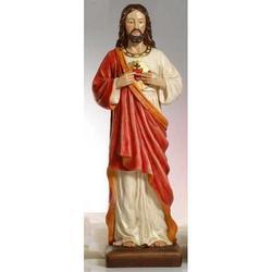 Statua Sacro Cuore di Gesu in resina cm 81