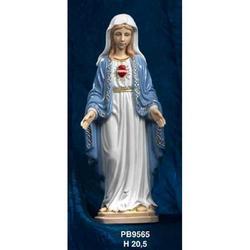 Statua Sacro Cuore di Maria in porcellana cm 20