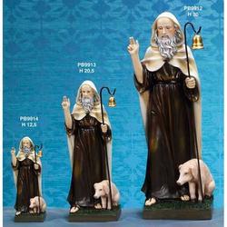 Statua Sant Antonio Abate cm 20 in resina