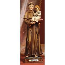 Statua Sacra di Sant Antonio cm 22 in resina