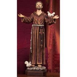 Statua San Francesco di Assisi cm 30 resina