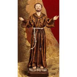 Statua San Francesco cm 30 resina con abito stoffa