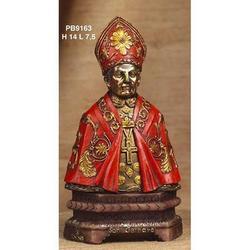 Statua San Gennaro Mezzo Busto cm 14 resina