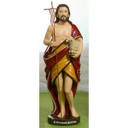 Statua San Giovanni Battista in resina cm 12