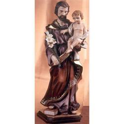 Statua San Giuseppe con Bambino cm 50 in resina