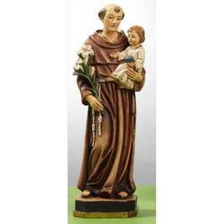 Statua Sant Antonio con Bambino cm 13 in resina