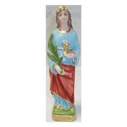 Statua Santa Lucia cm 21 in gesso