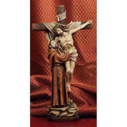 Statua Visione San Francesco cm 30 in resina