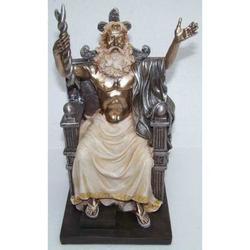 Statua di Zeus in resina cm 23.5
