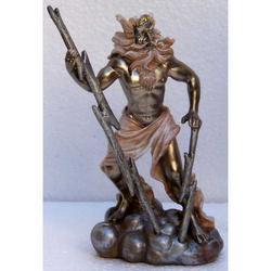 Statua di Zeus in resina cm 12