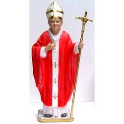 Statua Papa Giovanni Paolo II Wojtila cm 38 in gesso