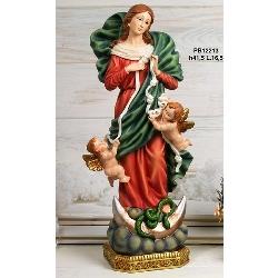 Statua Madonna che scioglie i nodi cm 41.5 in resina