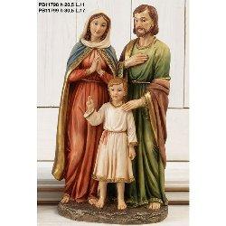 Statua Sacra Famiglia in resina cm 30.5