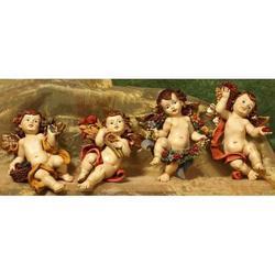 Statue di Angeli quattro stagioni pz.4 da cm 25 in resina