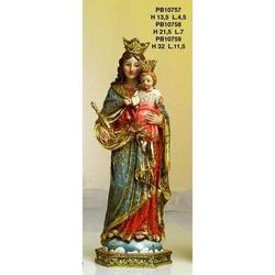 Statue Sacre di Madonna Ausiliatrice cm 13.5 resina