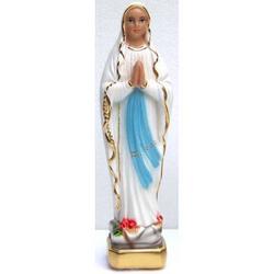 Statuetta Madonna di Lourdes in gesso da cm 21