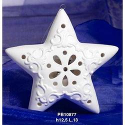 Stella Natalizia cm 12.5 in porcellana con luce