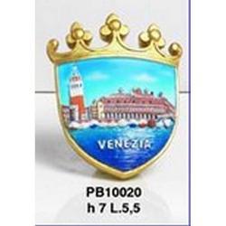 Magnete Stemma Venezia cm 7x5.5 in resina