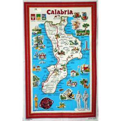 Strofinaccio con Calabria in cotone