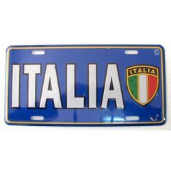 Targa in metallo Italia Scudetto cm 30x15