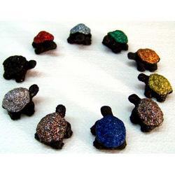 Tartaruga in Lava decorata cm 3.5x2.5 mis.2 - pezzo singolo