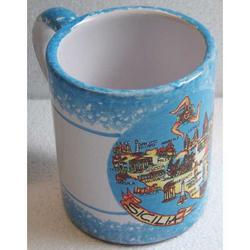 Tazza Sicilia con manico in ceramica cm 9x7.5